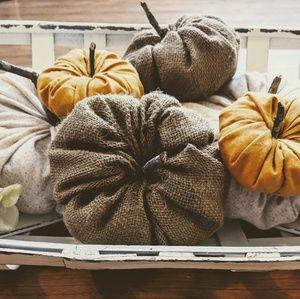 Other - Fabric pumpkins 2 sets! Total of 6 pumpkins!!